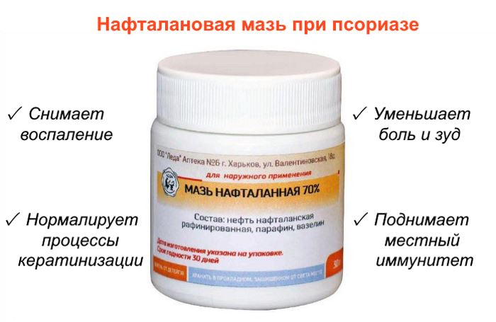 Мази с нафталаном от псориаза